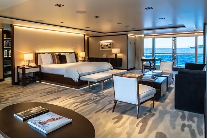 Master Stateroom Looking Forward through Sliding Glass Doors 2018 ADMIRAL Long Range Motor Yacht Motor Yacht 2339226