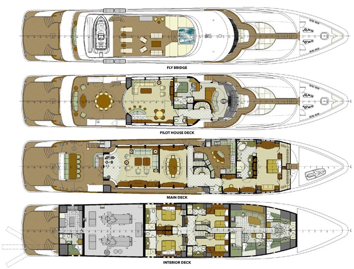 GENERAL ARRANGEMENT 2007 TRINITY 161' Trideck Motor Yacht Motor Yacht 2764063