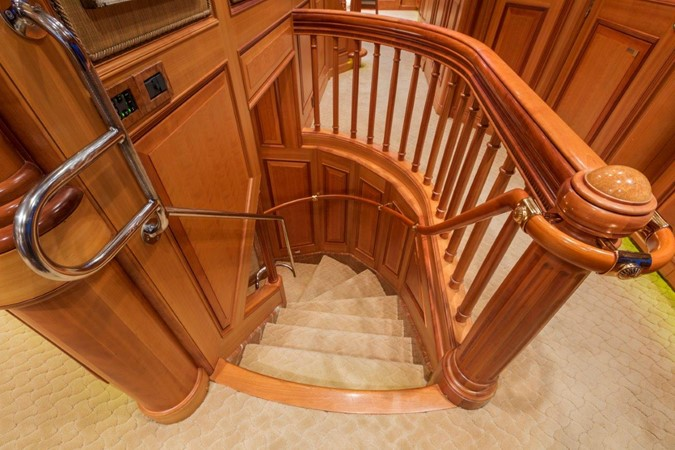 Staircase From Salon To Lower Deck 2000 ALLOY  Sloop 2181195
