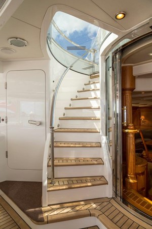 Staircase From Main Deck To Flybridge 2000 ALLOY  Sloop 2181203
