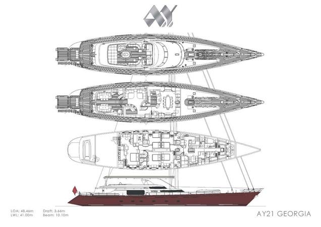 General Arrangement Plan As Built 2000 ALLOY  Sloop 2181208