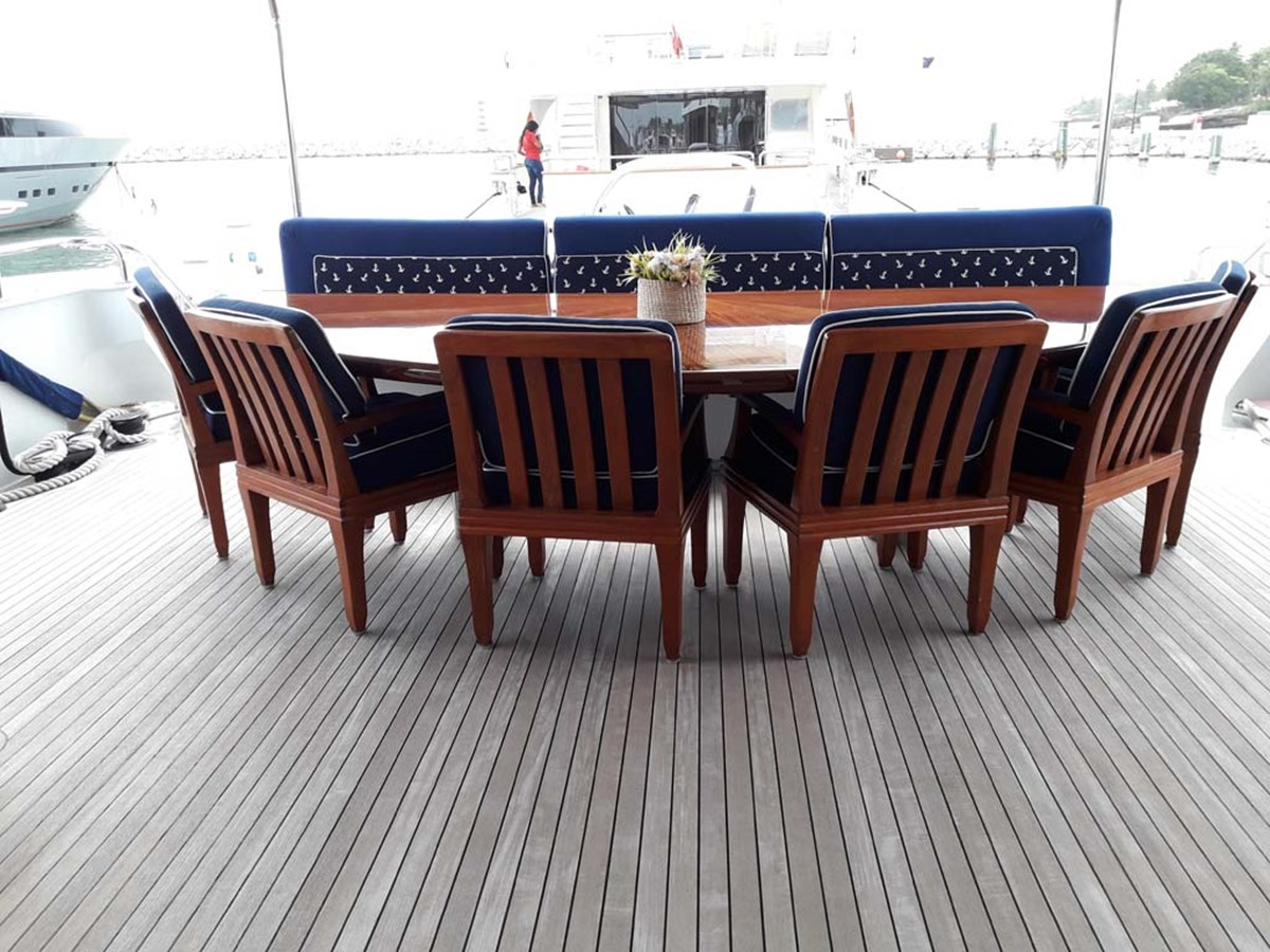 Aft Teak Deck Seating 2001 BROWARD Raised Pilothouse MY  2193566