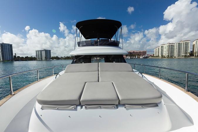 Bow sun tanning pads 2015 AZIMUT Magellano 43 Motor Yacht 2203009
