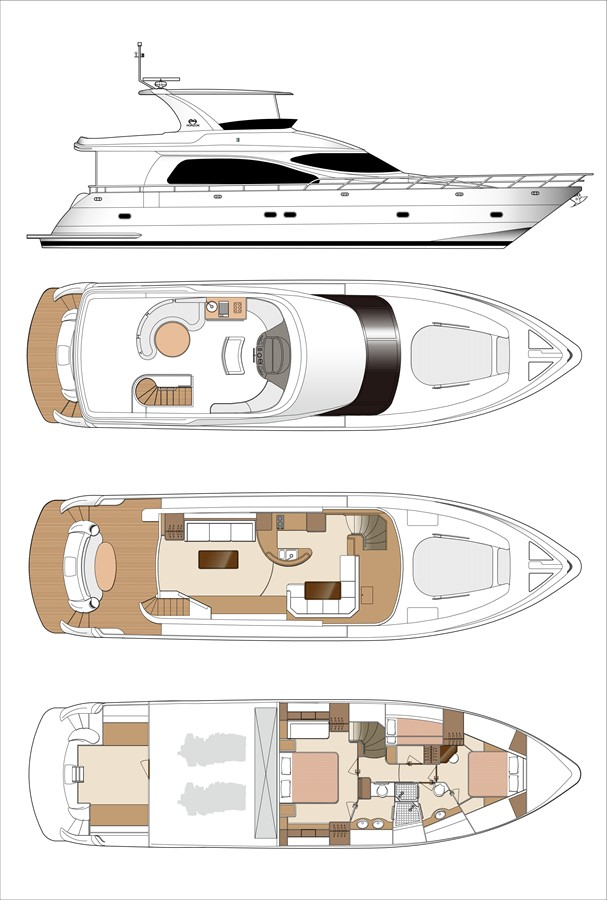 Open Bridge Layout 2021 HORIZON E62 Motor Yacht 2205321