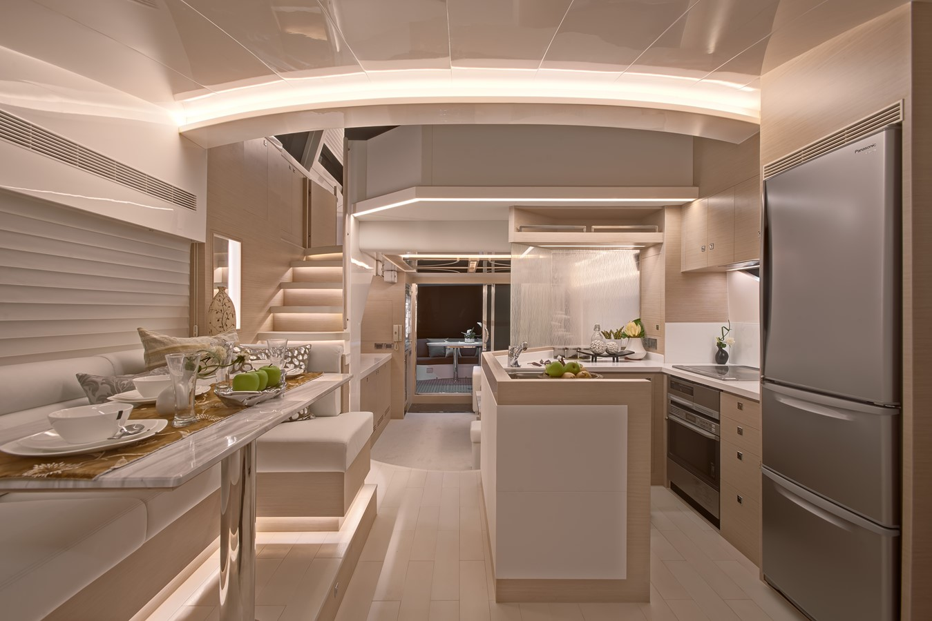 Galley - Dinette  2021 HORIZON E62 Motor Yacht 2205340