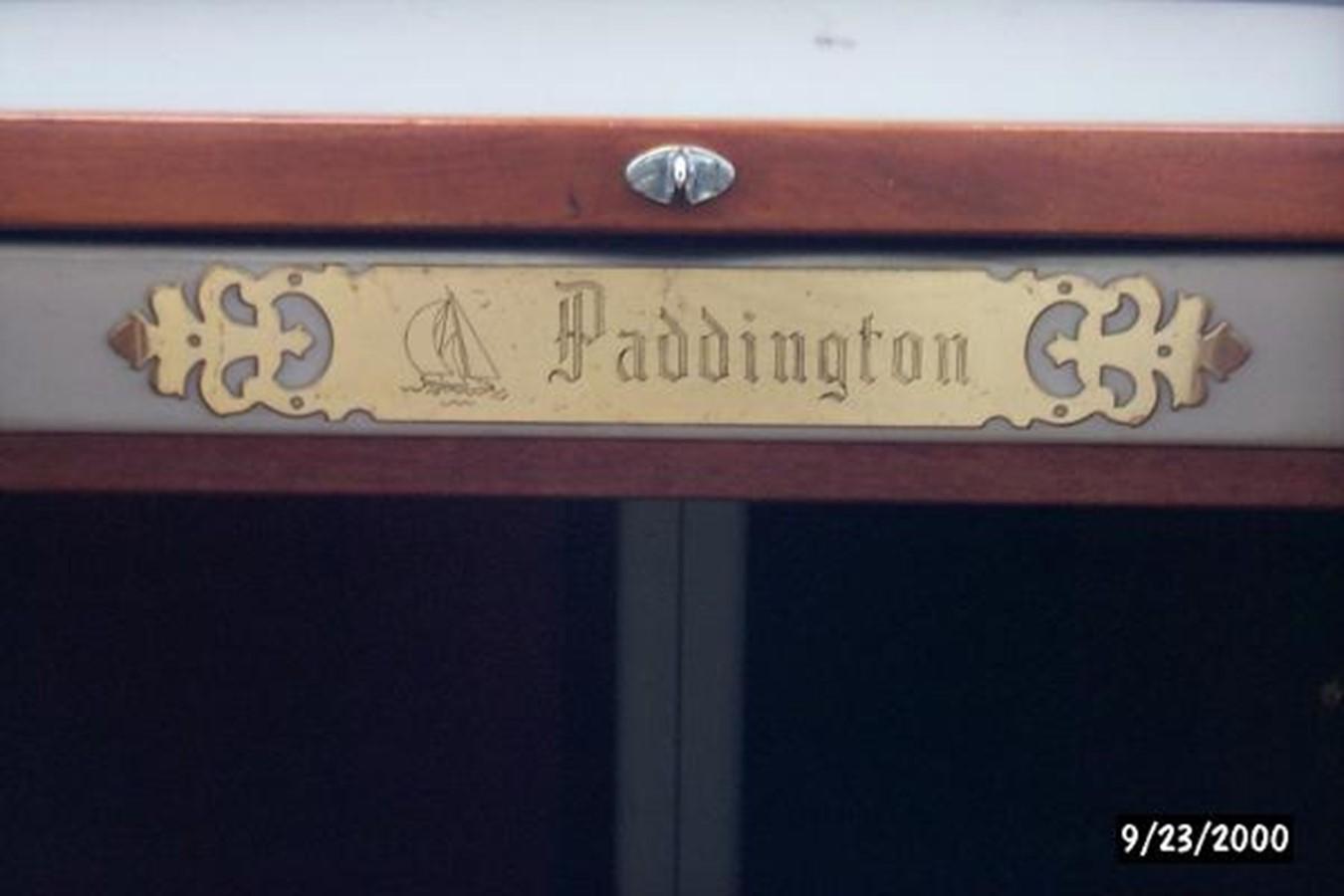 """""""Paddington"""" engraved  1989 SABRE YACHTS 38 MKII Sloop 2207644"""