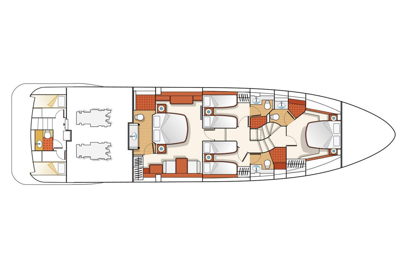 Lower deck 2008 AZIMUT 75  2220824
