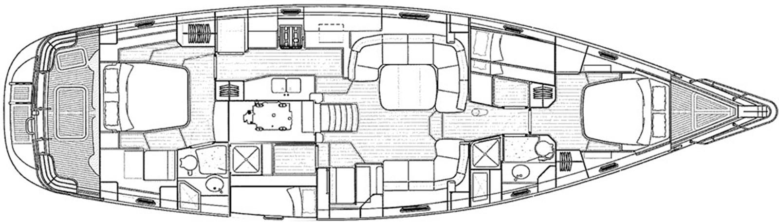 oyster-575-layout-1 2011 OYSTER MARINE LTD Oyster 575 Center Cockpit 2939051