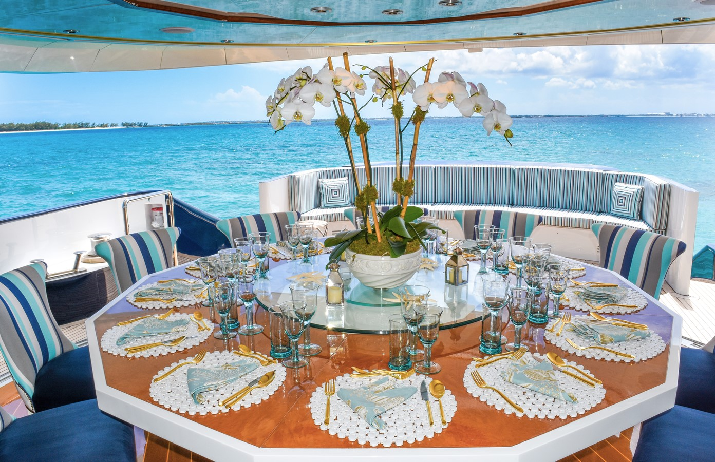 Aft Dining 1988 HEESEN YACHTS  High Performance 2221829