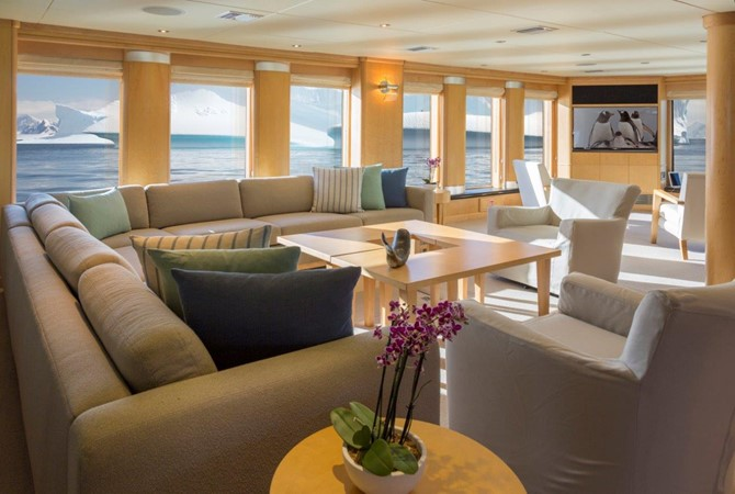 Main Salon Aft To Port 1974 AUROUX SHIPYARD Research Yacht  2223324