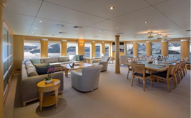Main Salon And Dining 1974 AUROUX SHIPYARD Research Yacht  2223335
