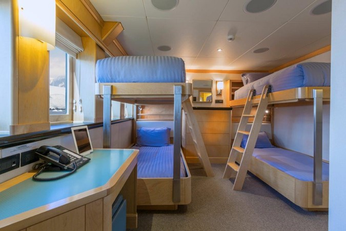 One Of Four Twin Staterooms In Bunk Configuration 1974 AUROUX SHIPYARD Research Yacht  2223341