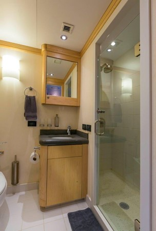 Typical Guest Bath 1974 AUROUX SHIPYARD Research Yacht  2223368