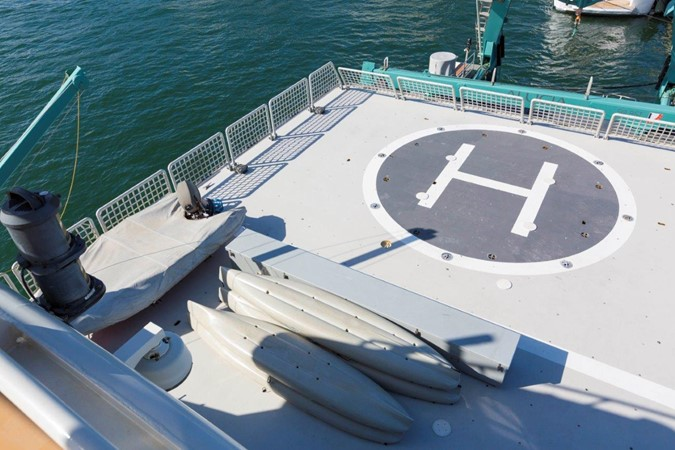 Helicopter Deck 1974 AUROUX SHIPYARD Research Yacht  2223372