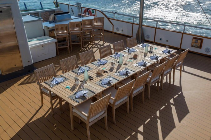 Sundeck Dining 1974 AUROUX SHIPYARD Research Yacht  2223373