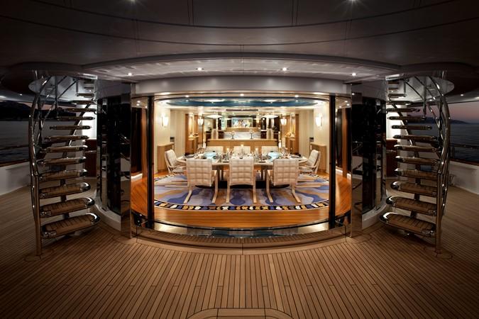 Dining Salon Looking Forward from Aft Deck 2010 NOBISKRUG  Motor Yacht 2317438