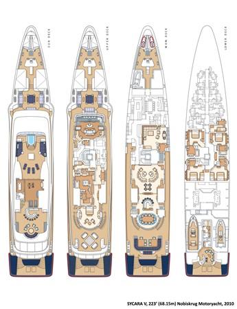 General Arrangement Plan 2010 NOBISKRUG  Motor Yacht 2317480