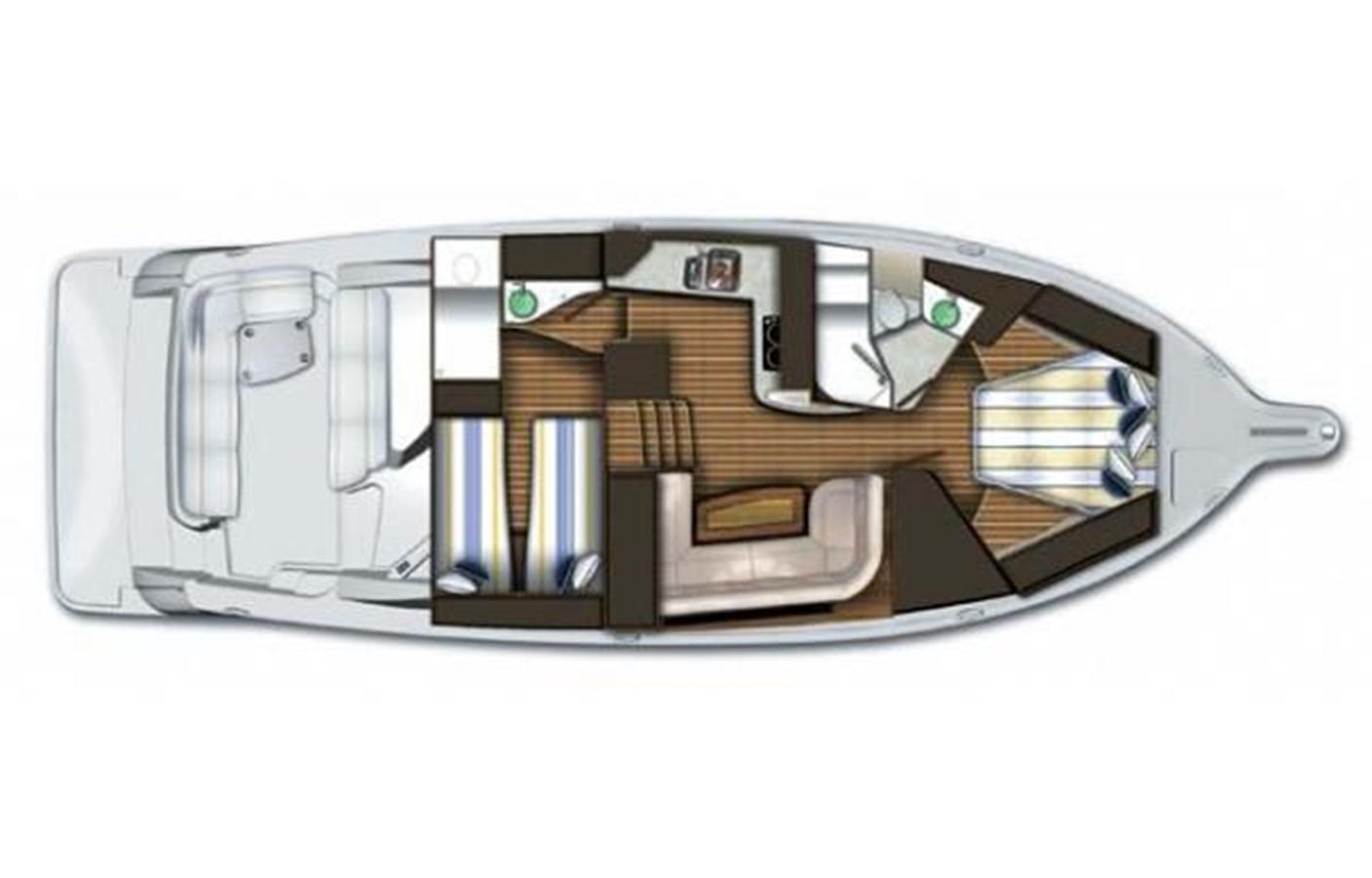 Manufacturer Provided Image: Layout A 2008 TIARA 4300 Sovran Express 2249899