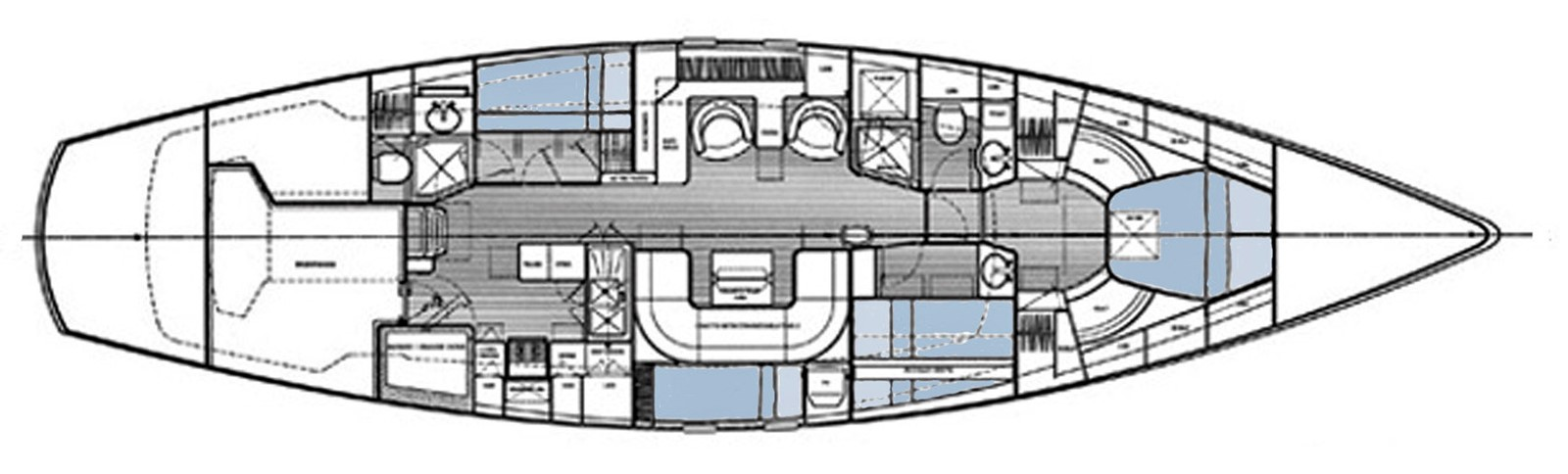 Hood/Lyman-Morse Custom 60 Layout 1999 LYMAN MORSE BOAT CO. Hood Custom 60 Aft Cockpit 2256591