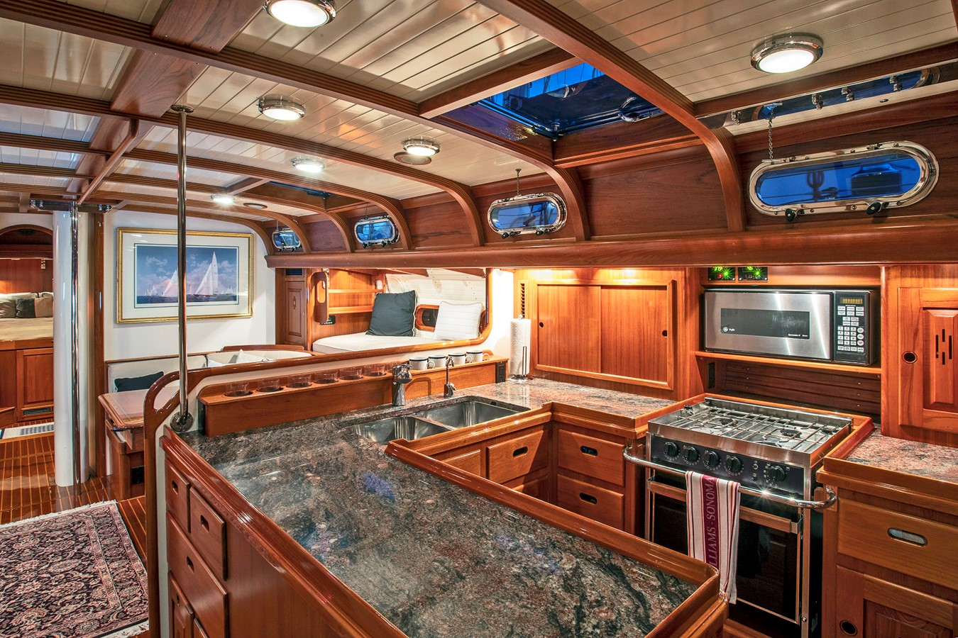 Galley 1999 LYMAN MORSE BOAT CO. Hood Custom 60 Aft Cockpit 2339874