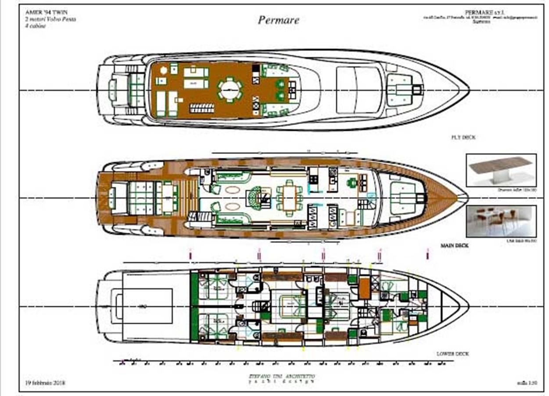 2018 AMER PER MARE Amer 94 Twin Mega Yacht 2278952