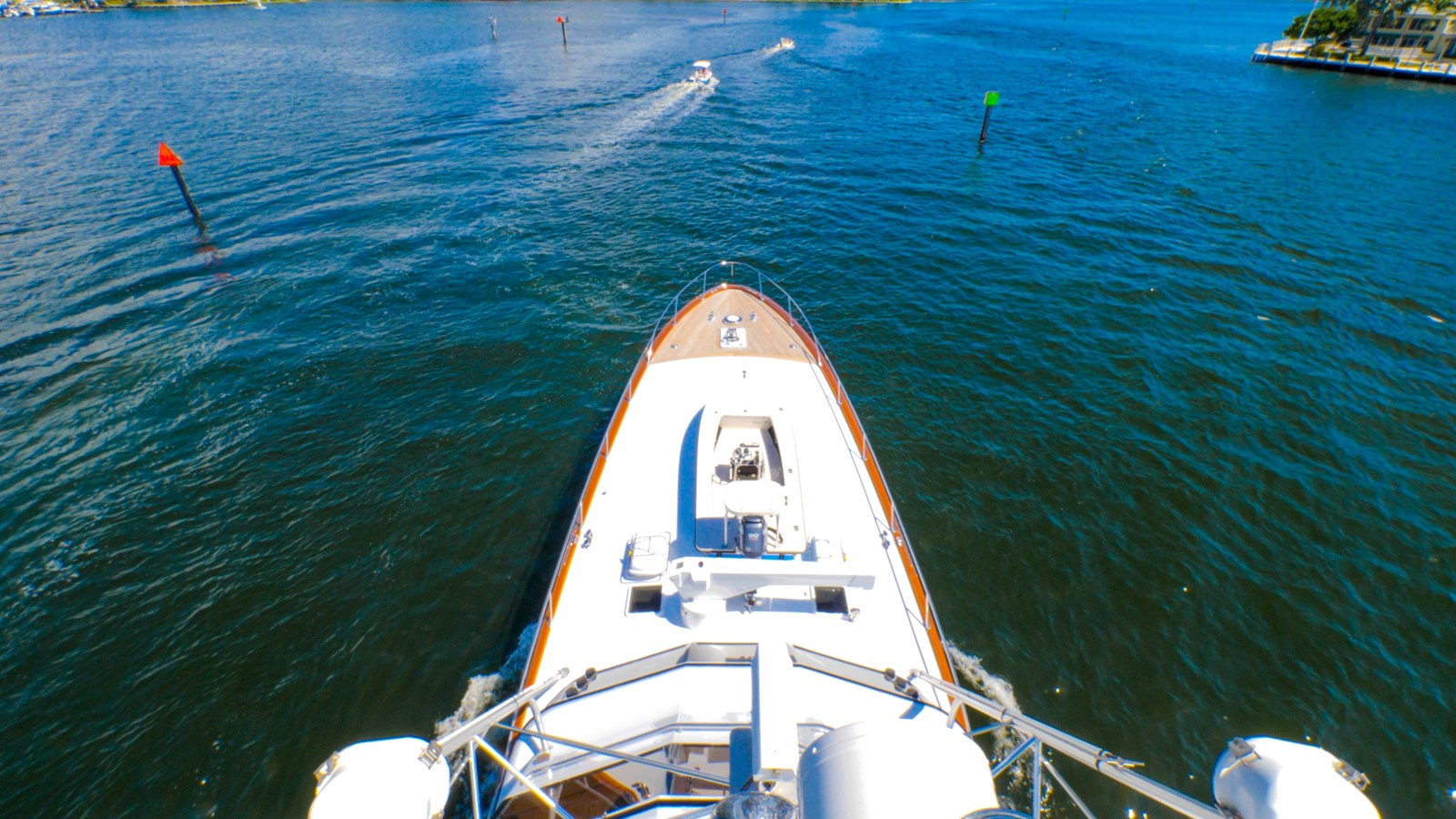 View Forward from Tower  1985 FEADSHIP Yacht Fisherman Sport Fisherman 2313227