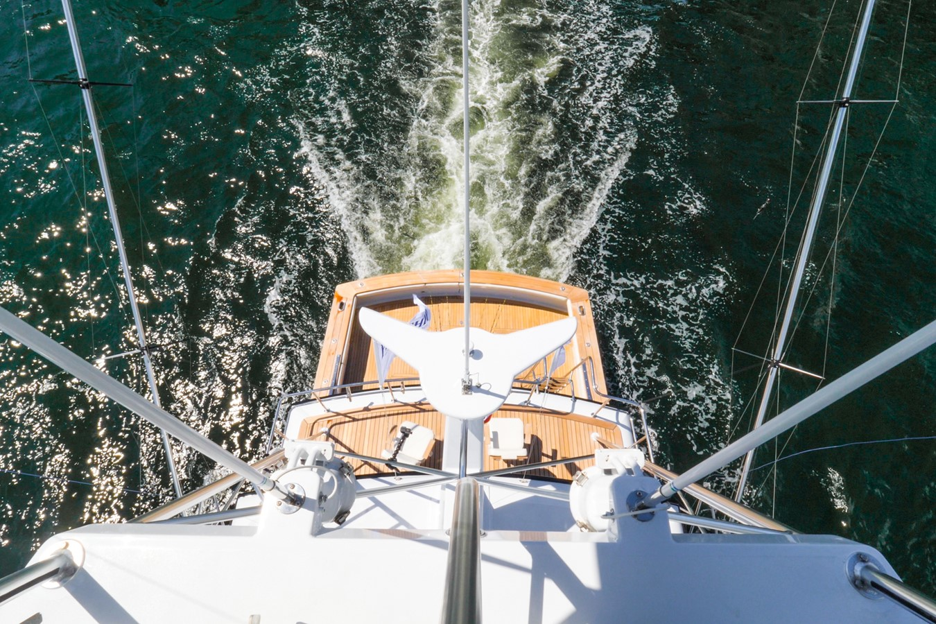 View Aft from Tower  1985 FEADSHIP Yacht Fisherman Sport Fisherman 2313228
