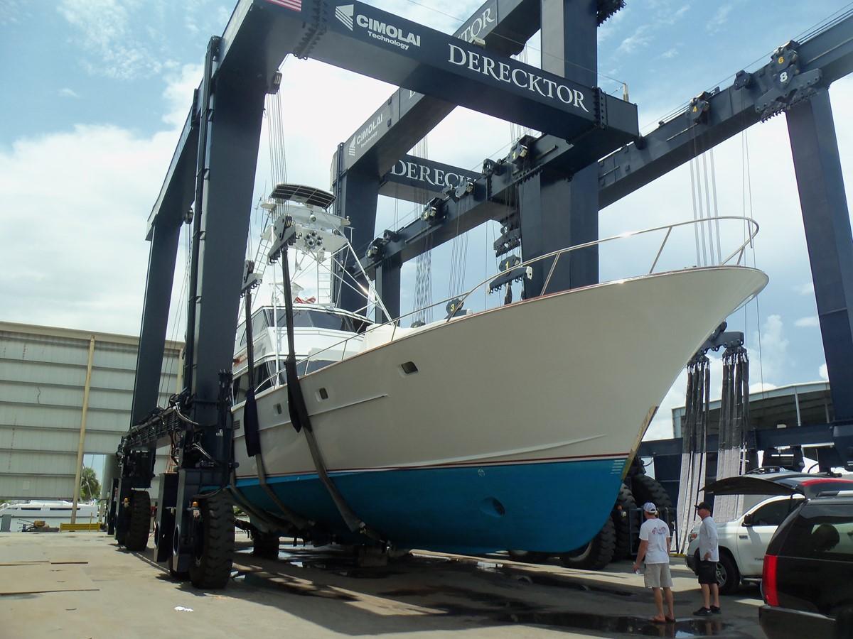 8/30/18 Bottom Inspection 1985 FEADSHIP Yacht Fisherman Sport Fisherman 2323453