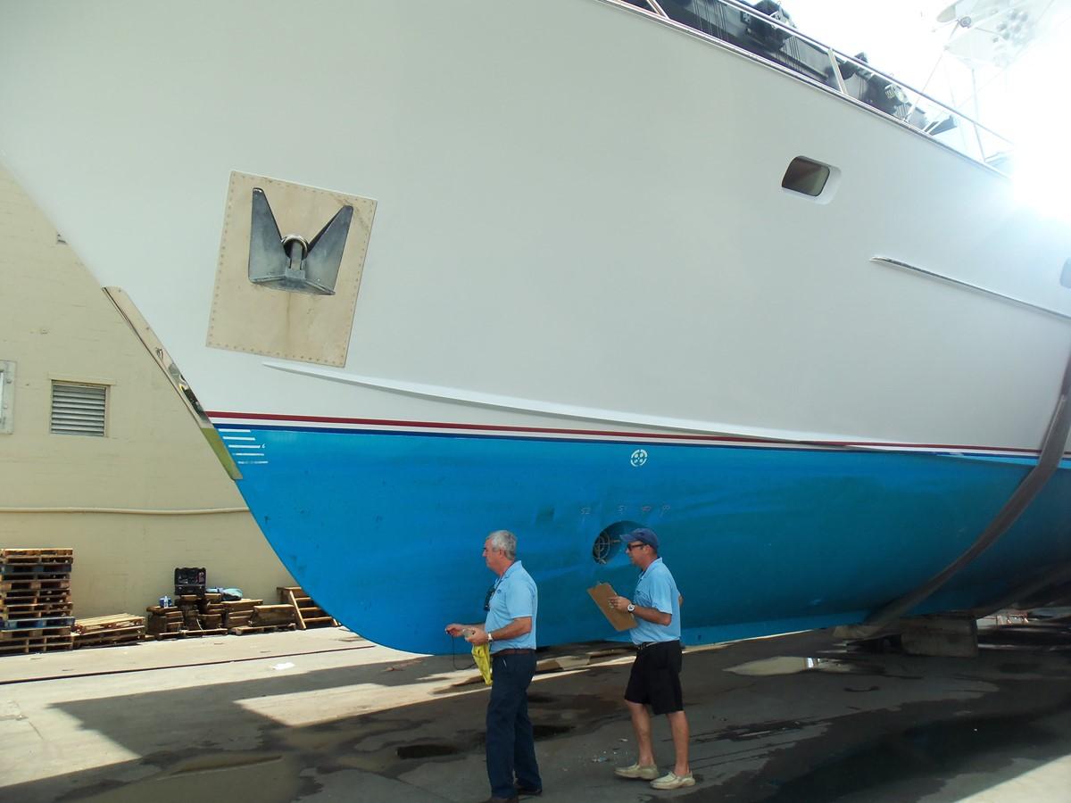 8/30/18 Bottom Inspection 1985 FEADSHIP Yacht Fisherman Sport Fisherman 2323455