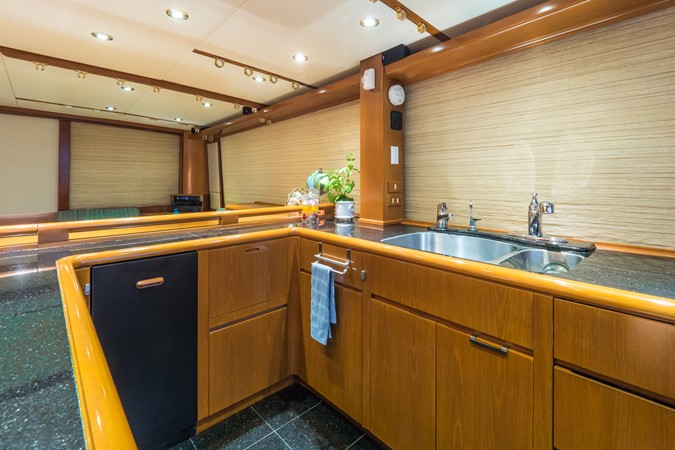 Galley Looking to Starboard 1985 FEADSHIP Yacht Fisherman Sport Fisherman 2313190