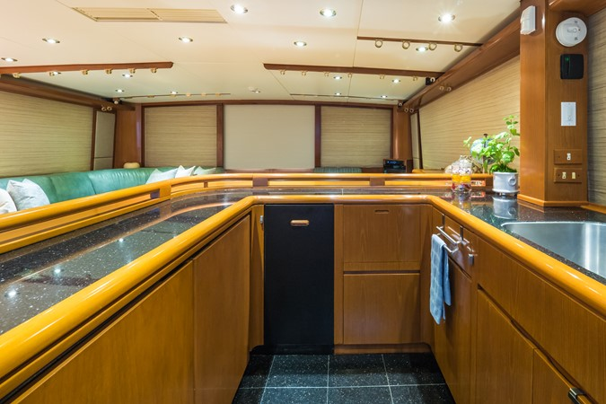 Galley Looking Aft 1985 FEADSHIP Yacht Fisherman Sport Fisherman 2313191