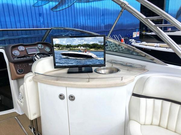 Wet bar/TV in the cockpit 2014 COBALT 336 Deck Boat 2308764