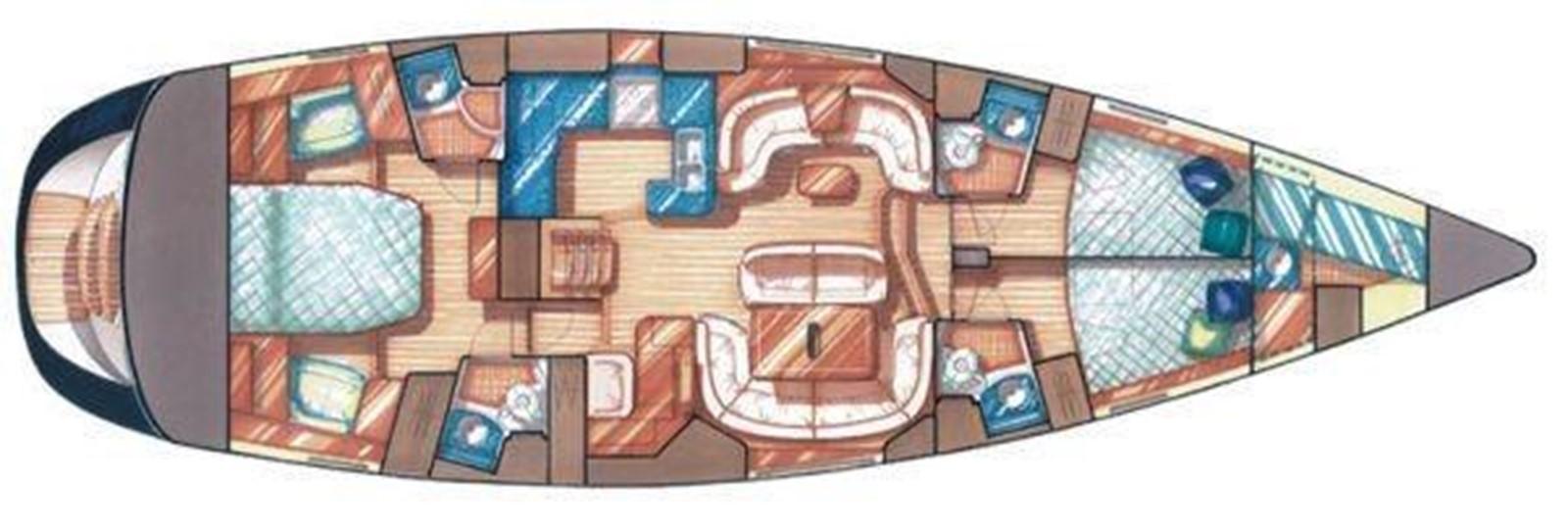 Interior Floorplan 2009 JEANNEAU DS 54  2309383