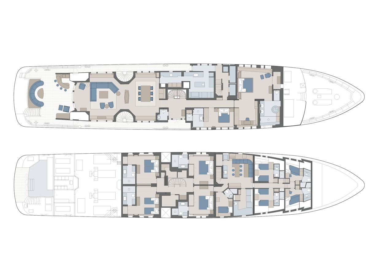 Layout 2000 FEADSHIP Tri-Deck Motor Yacht 2314167