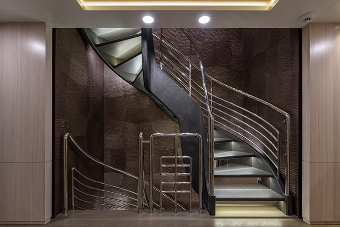 Stairs at Main Foyer 2000 FEADSHIP Tri-Deck Motor Yacht 2314146