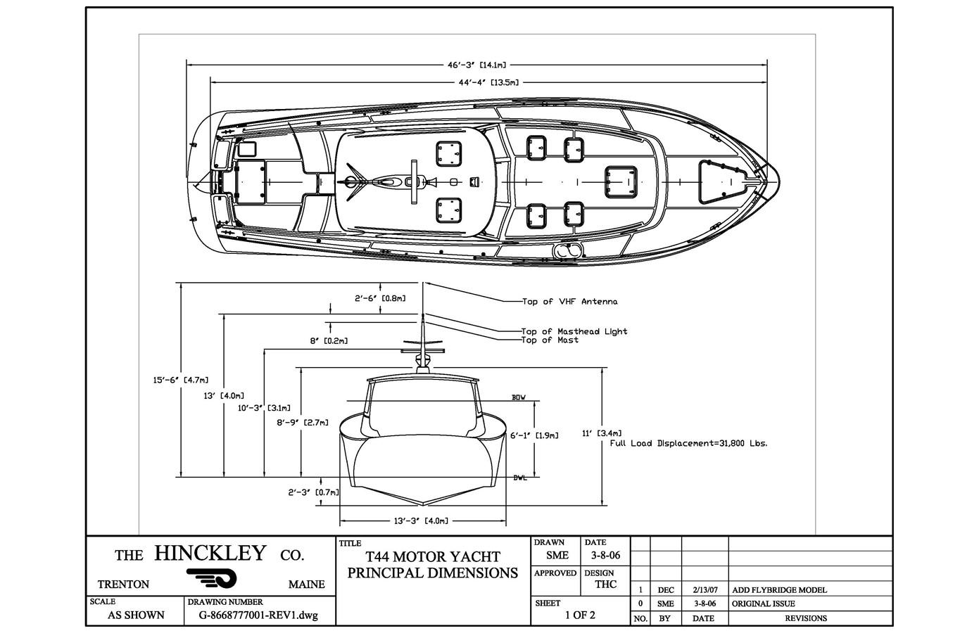 LAYOUT 2000 HINCKLEY Talaria Cruiser 2326075