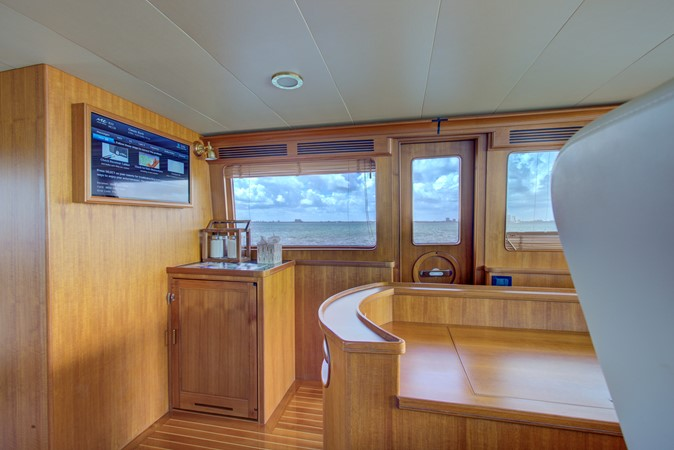 Command Bridge Looking to Port Side Pilot Bar 2015 MARLOW 80-ECB Cruiser 2377234