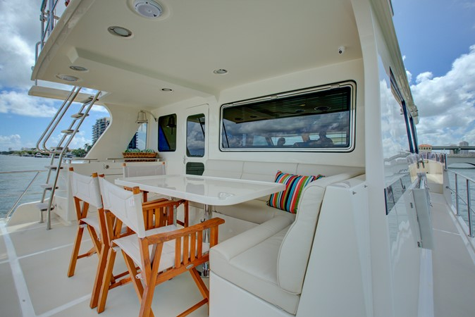 Upper Aft Deck Seating Area 2015 MARLOW 80-ECB Cruiser 2377240
