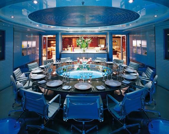 Upper Dining  2006 BENETTI Diesel Electric ABB Azipod Mega Yacht 2367229