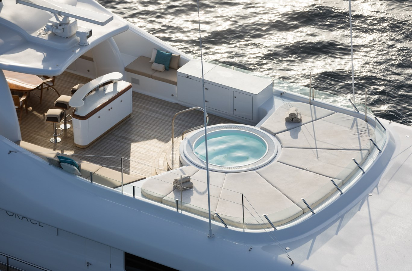 GRACE - Sun deck and Jacuzzi 2009 AMELS 171 Limited Edition Motor Yacht 2841385