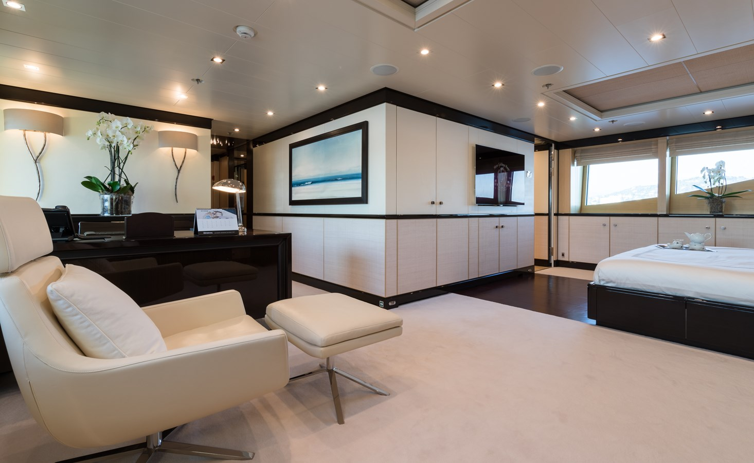 GRACE -Master stateroom general view 2009 AMELS 171 Limited Edition Motor Yacht 2841396