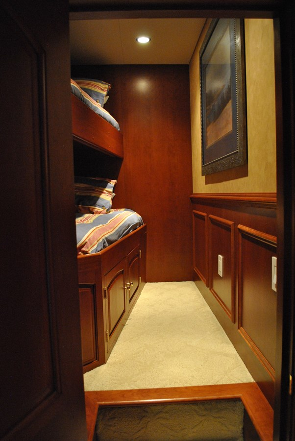 Crew Quarters one of two cabins 2006 VOYAGER Tri-deck Motor Yacht 2854343