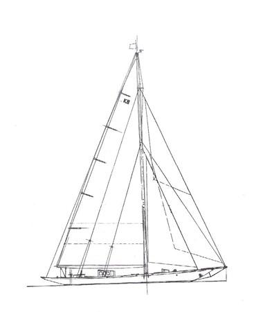 1929 CAMPER & NICHOLSONS  Racing Sailboat 2371544