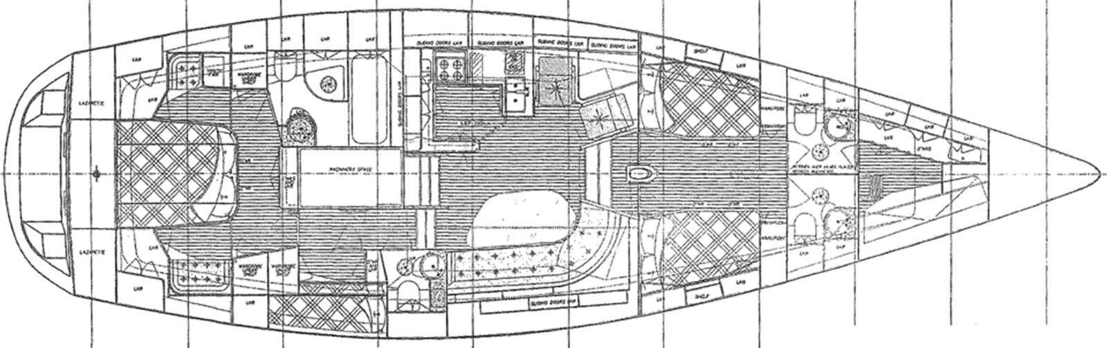 farr-60-pilothouse-layout-1 1999 NAJAD Farr 60 Pilothouse Cruising Sailboat 2830150