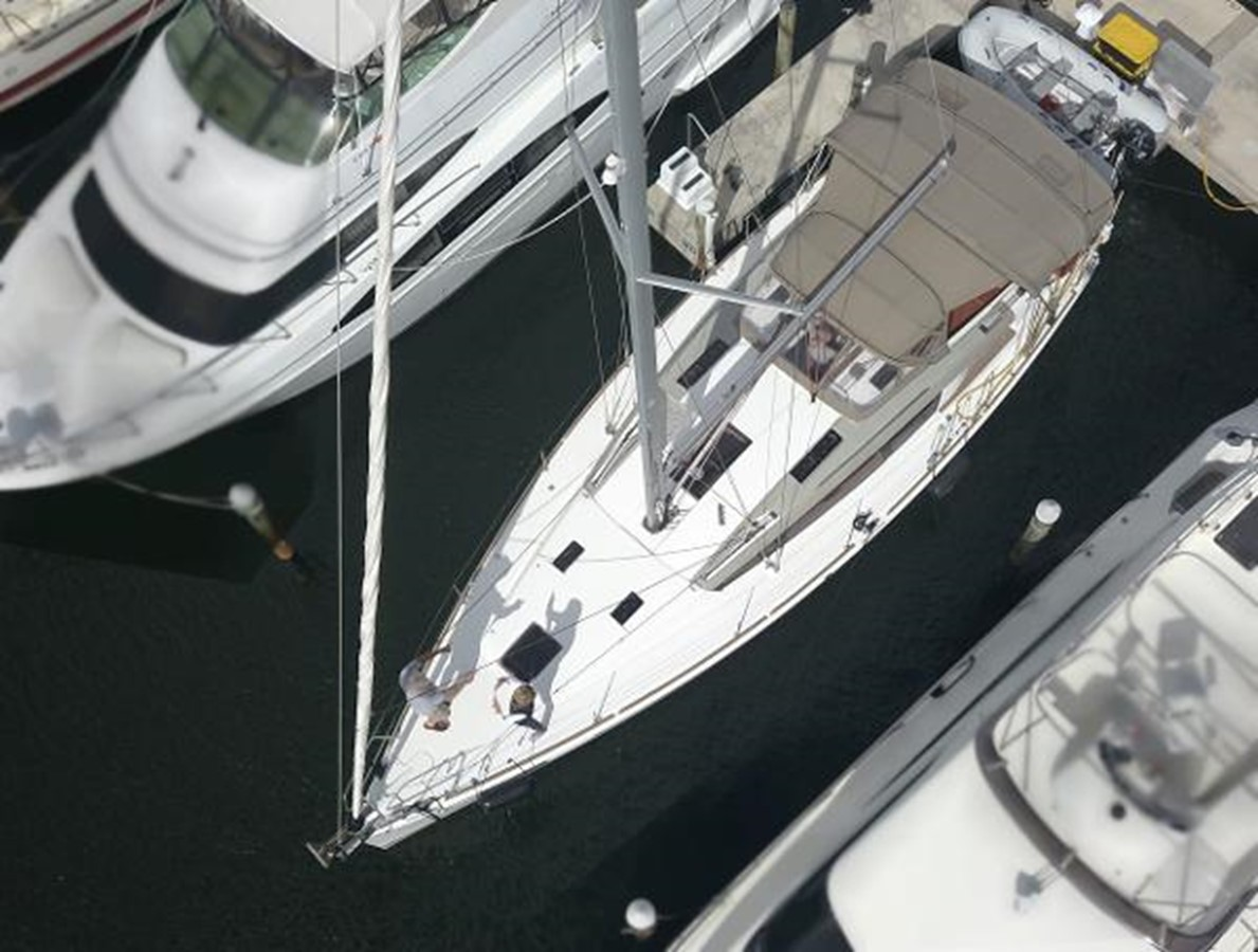 Bird's Eye View 2012 JEANNEAU Sun Odyssey 44 DS Cruising Sailboat 2385309
