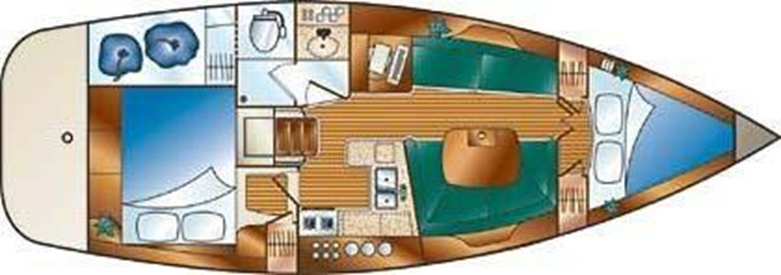 2003 HUNTER 356 Cruising Sailboat 2386289