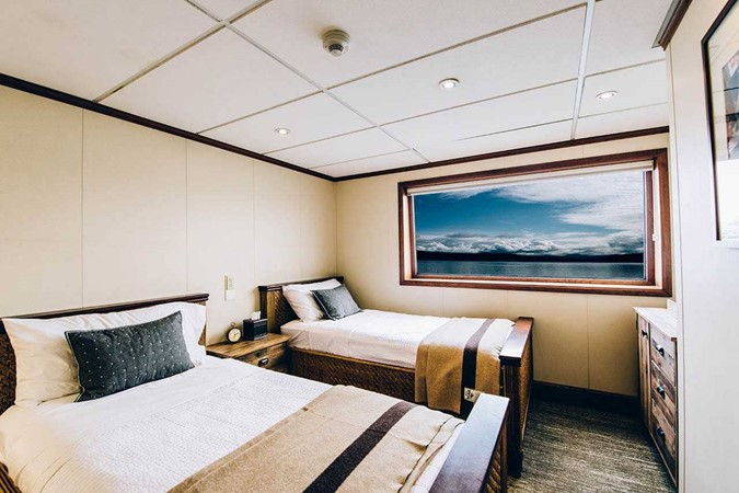 Guest Cabin showing Twin Berth Configuration 1978 BLOUNT MARINE Expedition Vessel Expedition Yacht 2403006