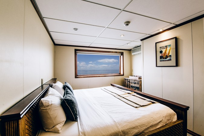 Guest Cabin showing King Berth Configuration 1978 BLOUNT MARINE Expedition Vessel Expedition Yacht 2403043