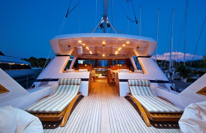Aft Deck 1996 VALDETTARO Commercial Sailing Yacht Cruising Sailboat 2404931