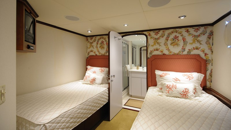 Twin Guest Stateroom 2001 BROWARD Raised Pilothouse Motor Yacht 2428797